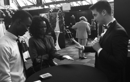 Magic entertainment at Wedding Exhibition Brussels
